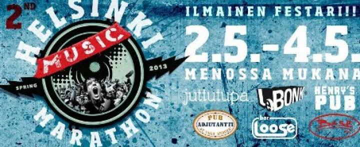 Ilmainen Helsinki Music Marathon jatkaa Vappua muutamalla päivällä