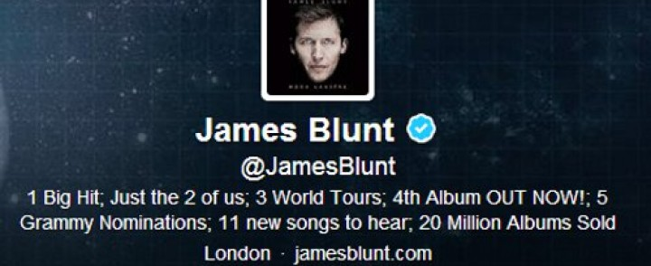 James Blunt rules Twitter