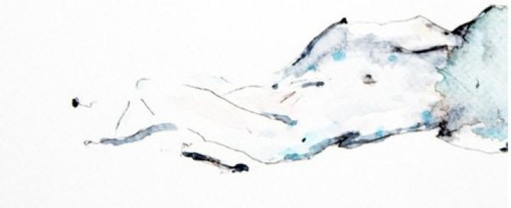 Suominousu: Black Twig – Pastel Blue