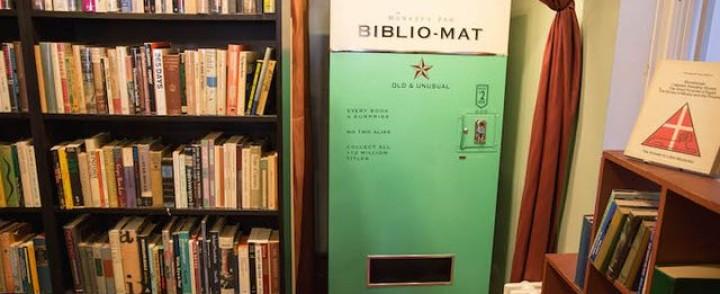 Hieno idea, Biblio-mat-automaatista saa random-kirjan
