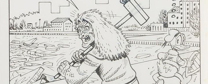 Ensimmäisen Suomeen sijoittuvan Aku Ankan alkuperäispiirustukset huutokaupataan