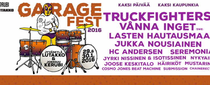 Lutakon ja Kerubin yhteisen Garagefestin ohjelma valmis