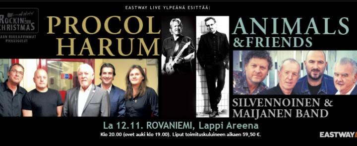 Legendaariset Animals ja Procol Harum joulutunnelmissa Rovaniemelle