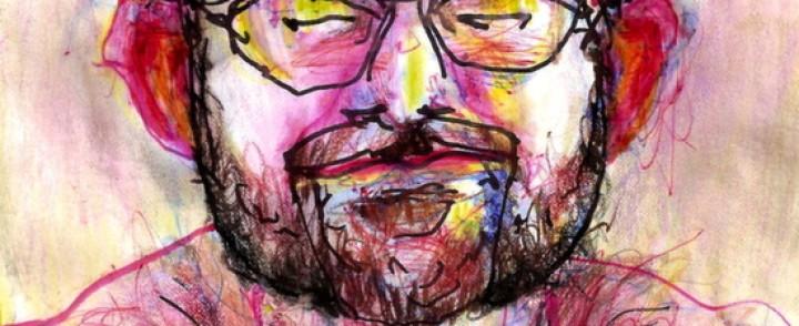 Mies testasi miten erilaiset huumeet vaikuttavat, kun maalaa omakuvaa