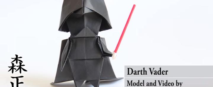 Iltapuhdetta, taittele oma Darth Wader -origami