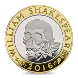 William Shakespearen kuoleman 400-vuotispäiviä juhlistetaan synkällä kolikolla