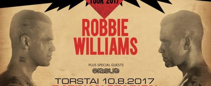 Robbie Williams saapuu kesällä Tampereella