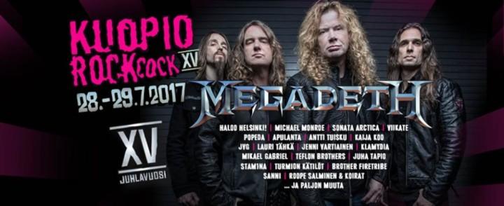 RockCockin pääesiintyjäksi Megadeth
