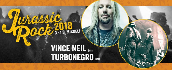 Vince Neil ja Turbonegro Mikkelin Jurassic Rockin ensikiinnitykset