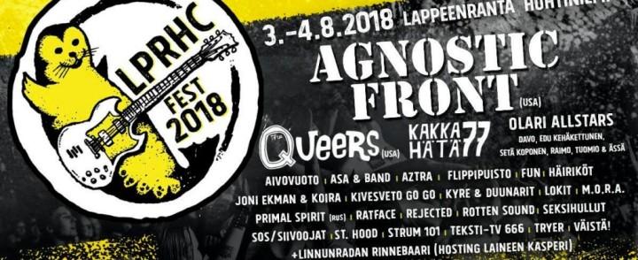 Agnostic Front tähdittä Lappeenrannan HC-festiä