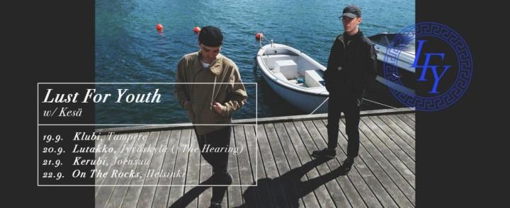 Tanskalainen elektroduo Lust for Youth minirundille Suomeen