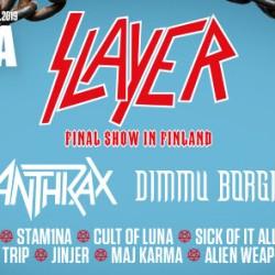 Vielä kerran Slayer, Suomen vika keikka sittenkin Tuskassa – lisäksi iso joukko muita kiinnityksiä