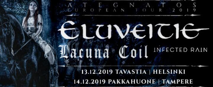 Eluveitie saapuu Suomeen, mukana Lacuna Coil ja Infected Rain