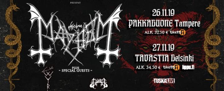 TuskaLive tuo Mayhemin Tampereelle ja Helsinkiin, mukana myös Gaahlin uusi pumppu