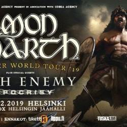 Arch Enemy ja Hypocrisy mukaan Amon Amarth -konserttiin
