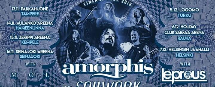 Amorphis kiertää Suomea yhdessä Soilworkin kanssa