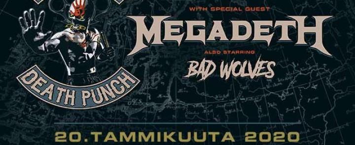 Five Finger Death Punch saapuu Suomeen mukanaan Megadeth