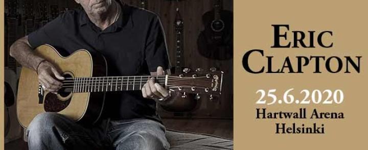 Eric Clapton saapuu ensi kesänä Hartwall Arenalle