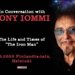 Tony Iommi saapuu juttelemaan mukavia Finlandia-talolle