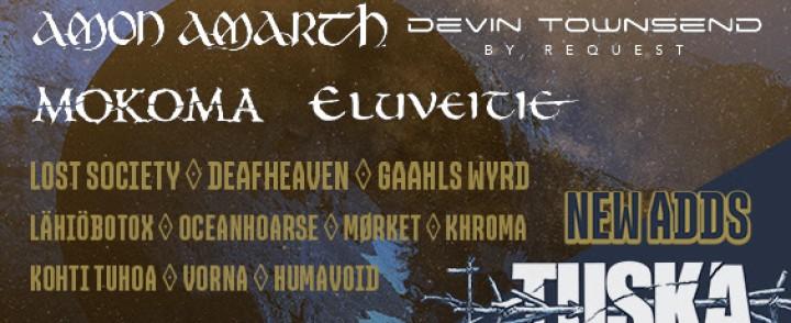 Tuskaan mm. Amon Amarth, Deafheaven, Gaahls Wyrd ja Devin Townsendin toivekonsertti