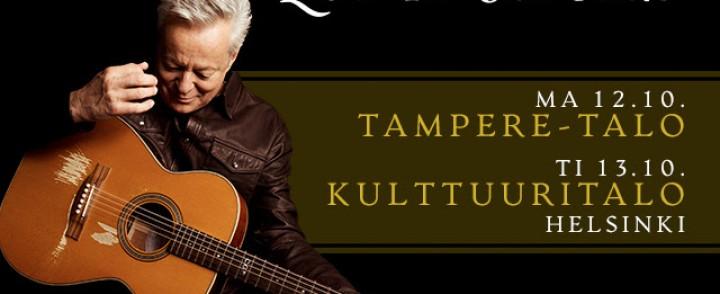 Kitaravirtuoosi Tommy Emmanuel saapuu kahdelle keikalle Suomeen