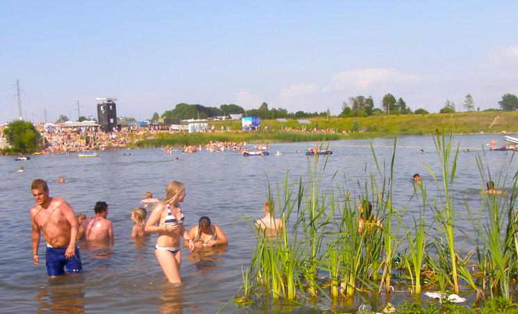 Ranta Roskilde Festivalin leirintäalueella